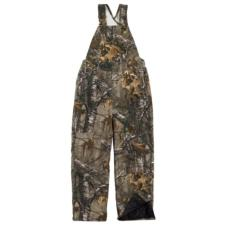 Carhartt Big Kids Washed Work Camo Quilt Lined Bib Overall CM8648BK
