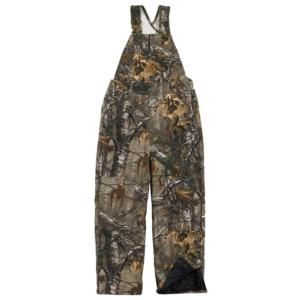 Carhartt Big Kids Washed Work Camo Quilt Lined Bib Overall