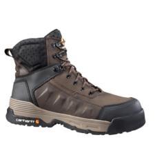 Carhartt Mens Force 6in. Brown Waterproof Composite Toe Work Boot CMA6346
