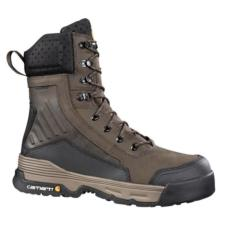 Carhartt Mens Force 8in. Brown Waterproof Composite Toe Work Boots CMA8346
