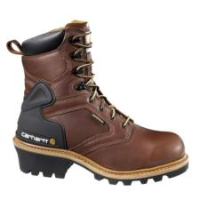 Carhartt Men's 8 in.Waterproof Soft Toe Logger Work Boots CML8120