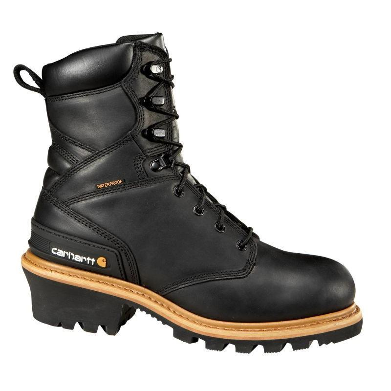 Carhartt Mens 8in. Black Waterproof Logger Boots