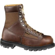 Carhartt Men's 8 in. Low Heel Waterproof  Soft Toe Logger Boots CML8150