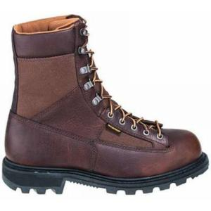 Carhartt Men's 8 in. Low Heel Waterproof  Steel Toe Logger Boots