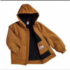 Carhartt Big Kids Hooded Quilted Flannel Lined Jacket Sizes 8-20 CP8417BK