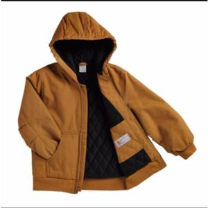 Carhartt Big Kids Hooded Quilted Flannel Lined Jacket Sizes 8-20