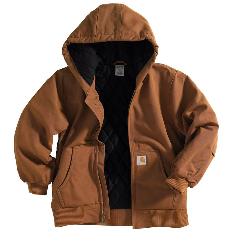 Carhartt Big Kids Hooded Quilt Lined Jacket Sizes 8-20