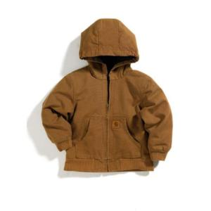 Carhartt Little Kids Hooded Quilted Flannel Lined Jacket Sizes 4-7