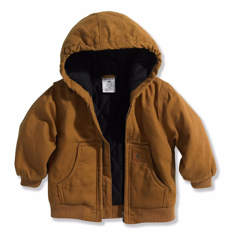 Carhartt Infant Boy's Hooded Quilt Lined Jacket Size 12-24mo