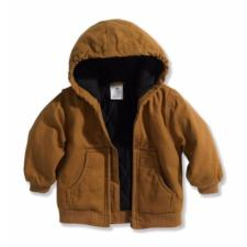 Carhartt Toddler Boy's Hooded Quilted Flannel Lined Jacket Sizes 2T-4T CP8430LK