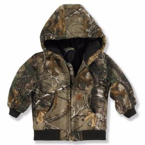 Carhartt Toddlers Work Camo Quilt Flannel Lined Active Jacket