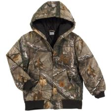 Carhartt Big Kids Work Camo Quilt Flannel Lined Active Jacket CP8468BK