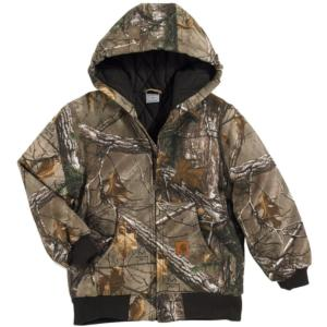 Carhartt Big Kids Work Camo Quilt Flannel Lined Active Jacket