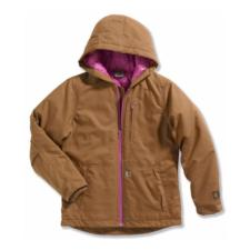 Carhartt Girls Quick Duck Quilted Taffeta Lined Woodward Jacket CP9480BK