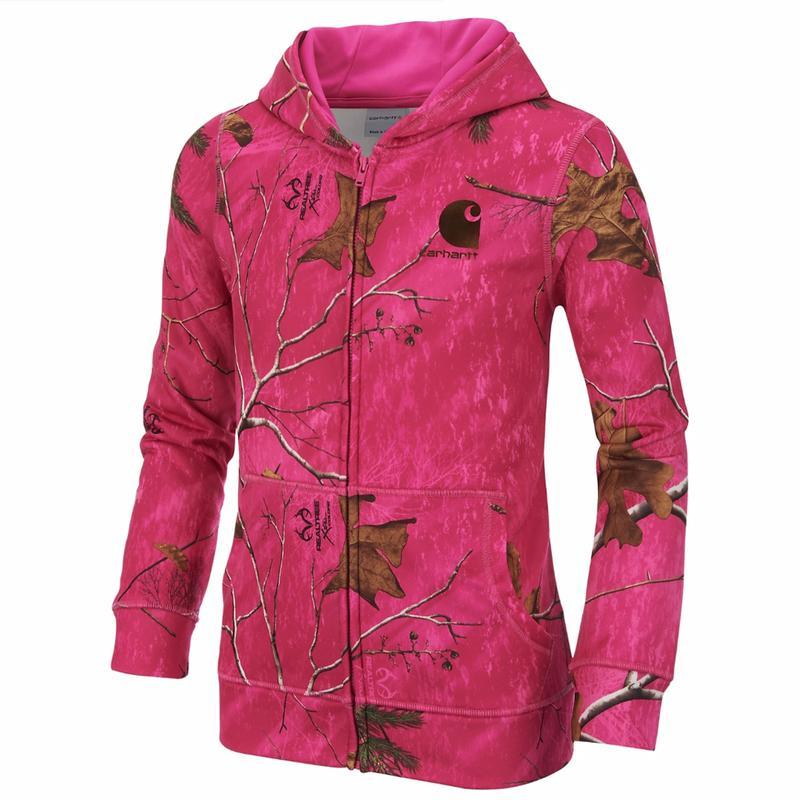 Carhartt Girl's Pink Realtree Xtra® Full-Zip Hoodie 7-14