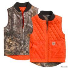 Carhartt Boys' (4-8) Reversible Camo Vest CR8101LK