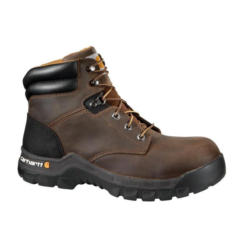 Perfect Work Boots, Toe Type Steel, Metatarsal Guard No, Insulated No, Mens, Size 712, Footwear Width W, Waterproof No, Lace Up, Height 6 In, Black, Liner Material Moisture Wicking Nylon Mesh, Shank Material Rubber, Midsole Material
