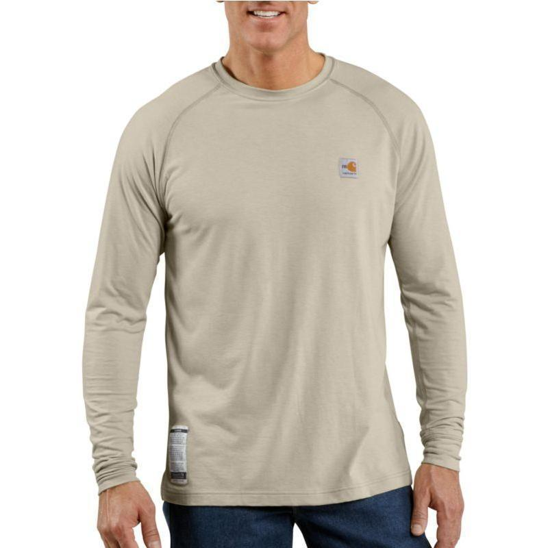 Men 39 s flame resistant work dry long sleeve t shirt frk009 for Carhartt work dry t shirt