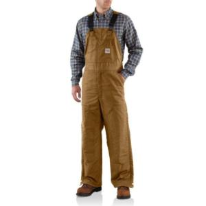 Carhartt Men's Flame-Resistant Midweight Duck Bib Overall/Quilt Lined