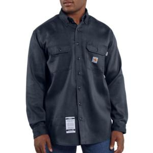Carhartt Men's Flame-Resistant Work-Dry® Lightweight Twill Shirt