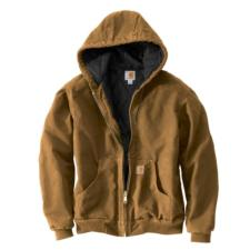 Carhartt_Carhartt Sandstone Quilted Flannel Lined Duck Active Jackets- Irregular