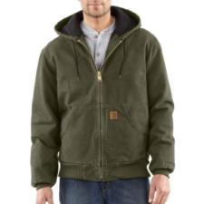 Carhartt Men's Sandstone Duck Quilted Flannel Lined Active Jac/Jackets J130