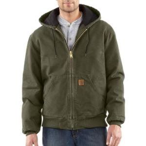 Carhartt Men's Sandstone Duck Quilted Flannel Lined Active Jac/Jackets