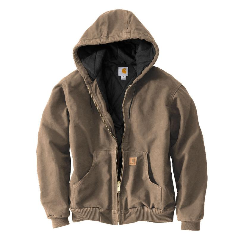 Carhartt Sandstone Duck Quilted Flannel Lined Active Jacket J130 : carhartt quilted flannel lined jacket - Adamdwight.com