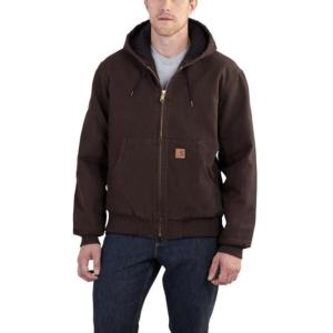 Carhartt Sandstone Quilted Flannel Lined Duck Active Jackets- Irregular