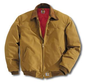 Carhartt Men's Duck Quilted Flannel Lined Santa Fe Jackets