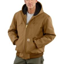 Carhartt Men's Duck Quilted Flannel Lined Active Jac/Jackets J140