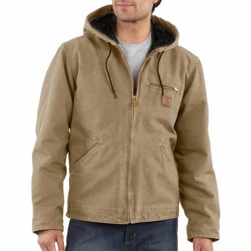 Carhartt Men's Sandstone Sherpa Lined Sierra Jackets-Clos...