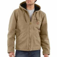 Carhartt Men's Sandstone Sherpa Lined Sierra Jackets-CLOSEOUT J141CO