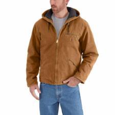 Carhartt Men's Sandstone Sherpa Lined Sierra Jackets J141