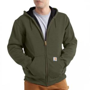 Carhartt 12 oz. Thermal-Lined Hooded Zip-Front Sweatshirts (J149 - 100632) - Irregular