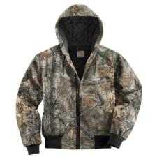 Carhartt Men's Quilted Flannel Lined  Camo Active Jackets-Irregular J221IRR