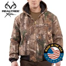 Carhartt Men's WorkCamo APQuilt Flannel Lined  Active Jackets J221