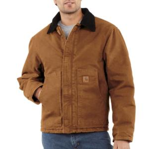 Carhartt Men's Sandstone Duck Arctic Quilt Lined Traditional Jackets