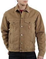 Carhartt Sherpa Lined Sandstone Jackets - Irregular J233IRR