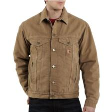 Carhartt Sherpa Lined Sandstone Jean Jackets J233