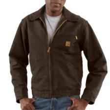 Carhartt Men's Sandstone Duck Detroit Jackets - Blanket Lined J97