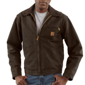 Carhartt Men's Sandstone Duck Detroit Jackets - Blanket Lined