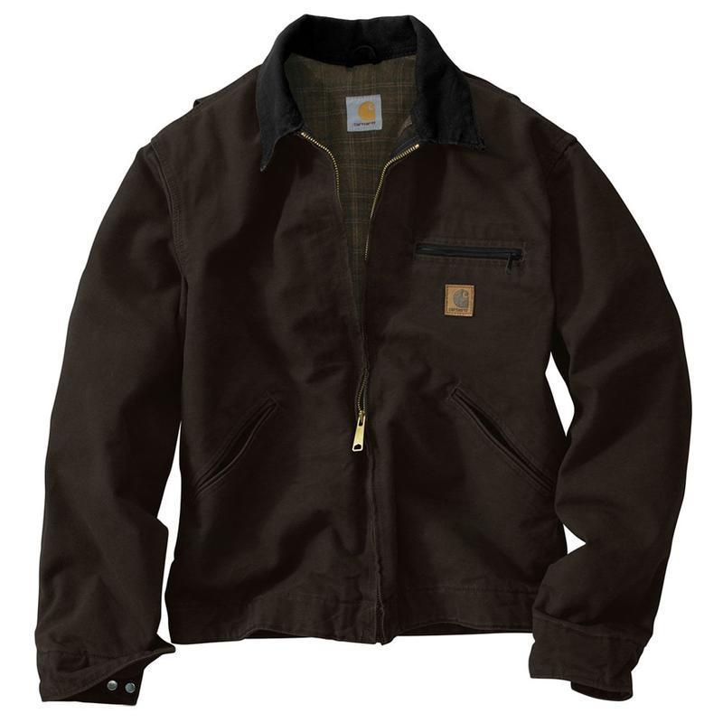 Carhartt Blanket Lined Sandstone Duck Detroit Jackets - I...