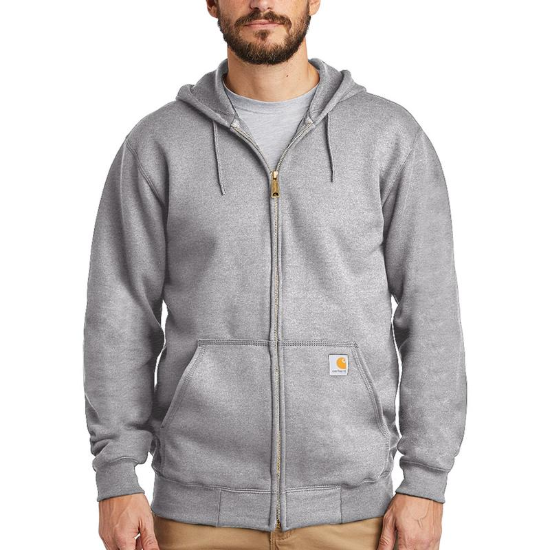 7217601a1 Carhartt Men's Midweight 10.5 oz. Zip-Front Hooded Sweatshirt. Zoom. Dark  Brown Dark Brown. Heather Gray Heather Gray