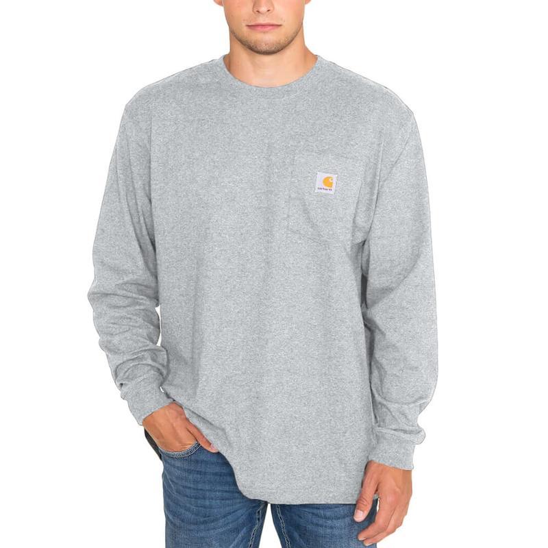 Carhartt men 39 s long sleeve workwear t shirt irregular for Carhartt men s chamois long sleeve shirt