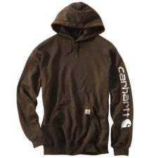 Carhartt_Carhartt Midweight Hooded Logo Sleeve Sweatshirt - Irregular