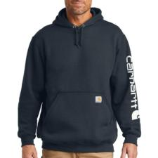 Carhartt Men's Midweight Hooded Logo Sleeve Sweatshirt K288