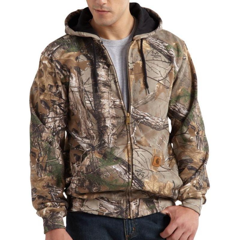 Carhartt Work Camo Hooded Zip Front Sweatshirt
