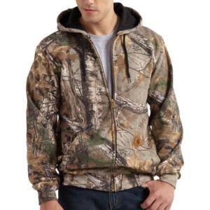Carhartt Work Camo Hooded Zip Front Sweatshirt