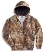 Carhartt Work Camo Hooded Zip Front Sweatshirt K289